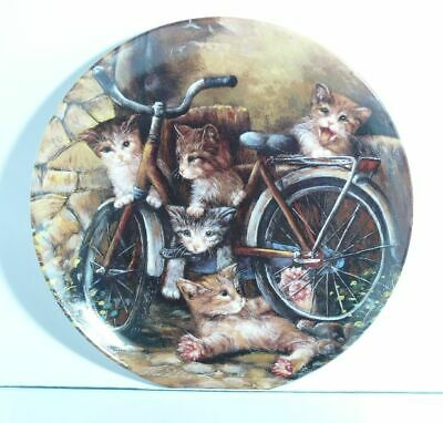 Collection Plate Seltmann Weiden Cat Die Radprofis with Certificate Boxed