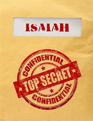 Isaiah Top Secret Confidential Composition Notebook for Boys by Dartan Creations