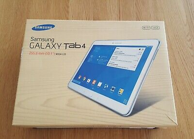 "SAMSUNG Galaxy Tab 4 SM-T530 10.1"" WXGA LCD 16GB, Wi-Fi Tablet White in BOX EUC"