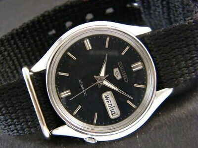 VINTAGE SEIKO 5 AUTOMATIC JAPAN MEN'S DAY/DATE WATCH 249b-a130530-3