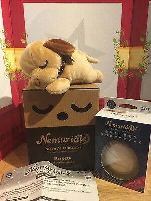 Japan Nemuriale Sleep Aid Puppy miniature stafford  Heartbeat Vibration Therapy