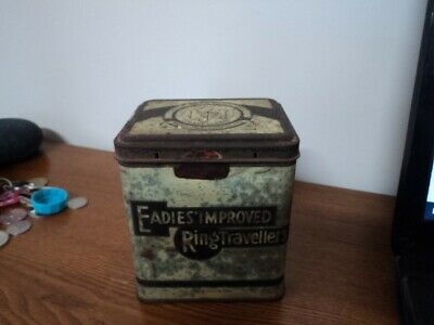 Old Vintage Scotland Collectors Tin: Eadies Improved Ring Travellers