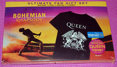 Queen Bohemian Rhapsody BluRay DVD Digital Shirt Gift Set Walmart SOLD OUT rare