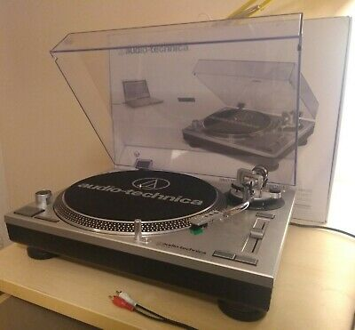 Audio Technica AT-LP120-USB Turntable, Silver. Used, Perfect Working Order + Box