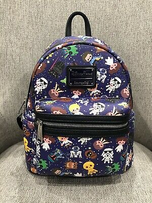 ff1bca09d33 DISNEY PARKS LOUNGEFLY Star Wars Characters Mini Backpack NWT ...