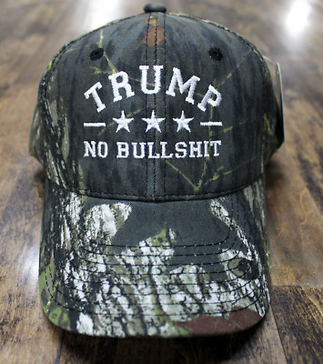 Donald Trump 2020 MAGA Hat No Bull *hit Camo Embroidered Hat Trump Mossy Oak Cap