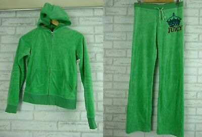 JUICY COUTURE Tracksuit Sz M, 10 Green Jacket and pants