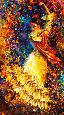 Vintage Poster Print canvas art painting spanish dancer lady A1 A2 A3