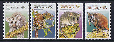 Australian Decimal Stamps 1990 Animals of the High Country Set 4, MNH