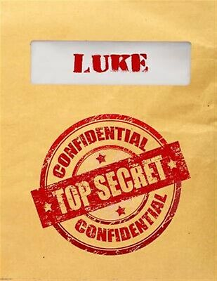Luke Top Secret Confidential: Composition Notebook for Boys by Dartan Creations