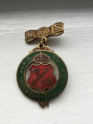 Antique C.1909 Royal Agricultural Society Of NSW Stewards Medal/Pin