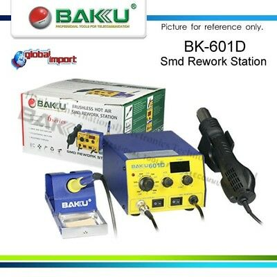 Baku Bk-601D Soldering Station Air Warm 3 Nozzles Drill Tip Microstilo Exp