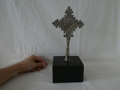 Old African Ethiopian Coptic Processional Cross Finial Christianity