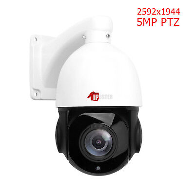 H.265 PTZ IP Camera 5MP Super HD 2592x1944 Pan/Tilt 30x Zoom Speed Dome Camera