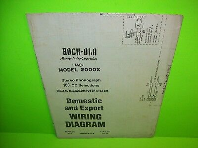 rock ola laser 2000x original jukebox phonograph music wiring diagram  schematic