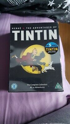 The Complete The Adventures Of Tintin ALL 21 - 5 DVD BOX SET Fully remastered