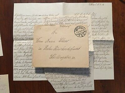 WW1 German soldier's letter home with contents 1916