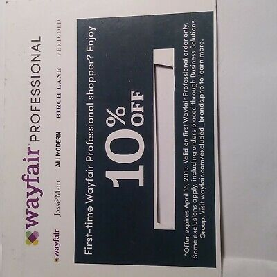 Wayfair Professional first-time shopper coupon