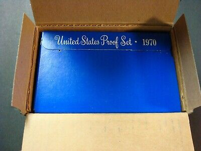 1970-S One New Proof Set From Mint Shipping Box Silver Proof Kennedy Half Dollar