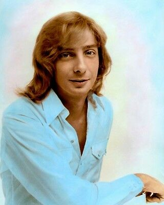 """BARRY MANILOW 1975 SINGER SONGWRITER PRODUCER 8x10"""" HAND COLOR TINTED PHOTOGRAPH"""