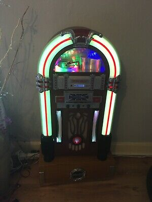 Jukebox CD Player Machine Vintage Radio Retro Stereo Record Speaker With Remote