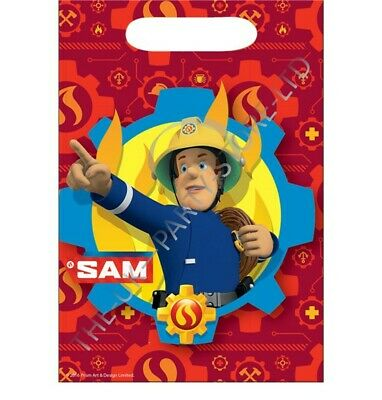 FIREMAN SAM LOOT BAGS Birthday Party Supplies Boys Gift Pack Kids Party Favour