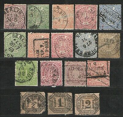 German States - North German Confederation lot 1868-1870  Used G/VG - Nice group