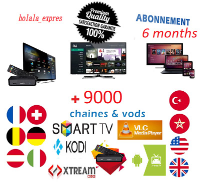 IPTV 6 Mois ( 6 months) 5200 channel + 4000 Movies