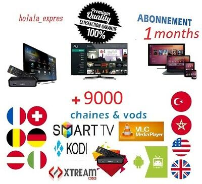 IPTV 1 Mois ( 1 months) 5200 channel + 4000 Movies
