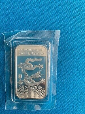 1 Oz. .999 Silver Bar - 2012 Year Of The Dragon - Apmex