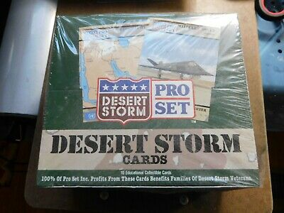 1991 PRO SET DESERT STORM WAX FOIL BOX 36 Packs/10 Cards in factory sealed box.