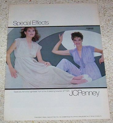 ed782ef39bb 1982 VINTAGE AD page - JCPenney lingerie fashion nightgown pajamas PRINT  Advert