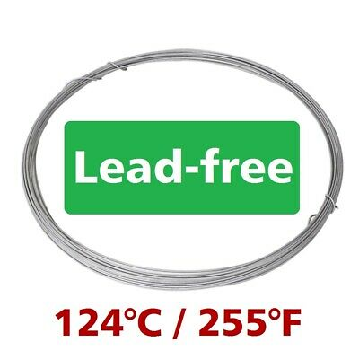 Low Melting Point 124°C/255°F Soldering Wire Bi57Sn43 1mm 1m/3.3ft Without Flux
