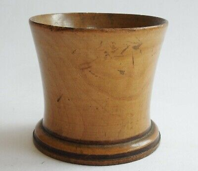 Antique / vintage wooden Tiddlywinks / Gaming Cup pot boxwood treen