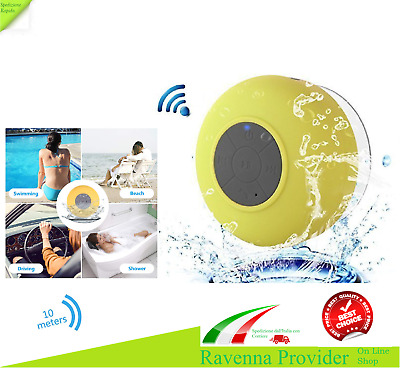 Altoparlante Wireless Cassa Doccia Bluetooth Impermeabile Microfono Integrato