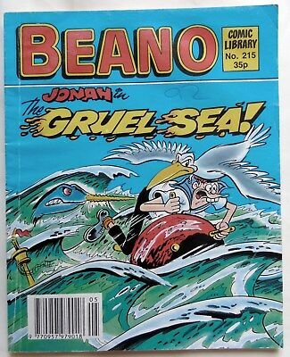 BEANO COMIC LIBRARY No 215.1991. JONAH in  The Gruel Sea