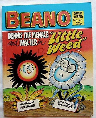 BEANO COMIC LIBRARY No 73. 1985 DENNIS THE MENACE and WALTER  in 'LITTLE WEED'