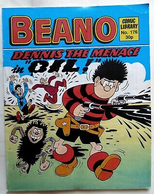 "BEANO COMIC LIBRARY No 176. 1989 DENNIS in ""Oil!"""