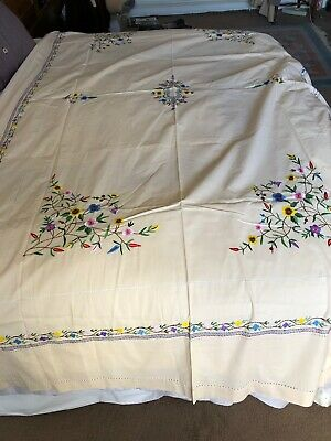 2 Vintage Embroidered Bed Covers