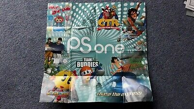Original Sony PSone PS1 Playstation 1 Team Buddies Aladdin Pac Man CTR Poster