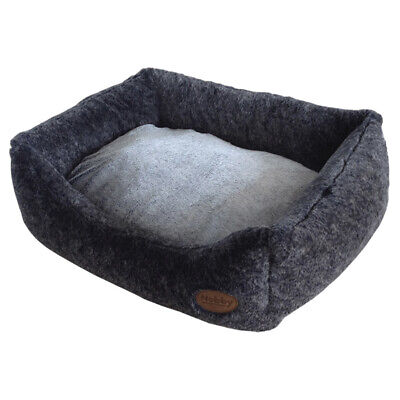 Nobby Dog Bed Rectangular Cuddly Dark Grey, Various Sizes,