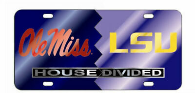 20172f27e96 Ole Miss Rebels Lsu Tigers House Divided Mirror License Plate Car Tag  University