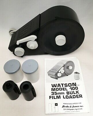 Watson 35mm Bulk Film Loader + 2 re-loadable canisters ~ vintage retro analogue