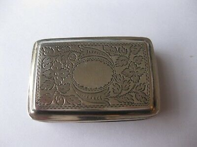 ANTIQUE George lV solid silver Vinaigrette. Birmingham 1829. By Thomas Simpson.