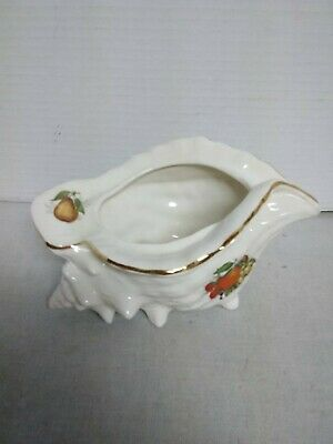 Vintage ceramic Made in England footed sea shell planter
