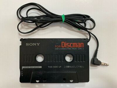 Sony CPA-3 Discman Earphone to Cassette Adapter-use with phone or audio players