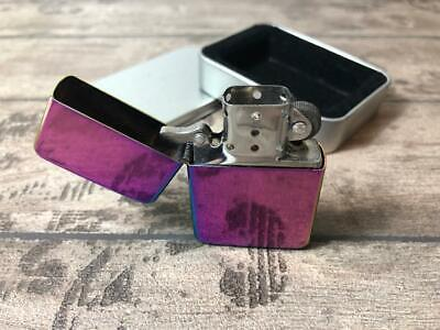 Spectrum Rainbow Star Flip Top Fuel Lighter With Gift Tin Ideal To Be Engraved