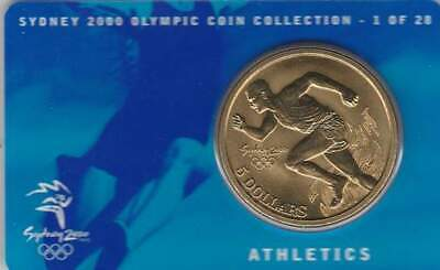 Coincard Australia Sydney 2000 Olympic 5 dollars - Athletics (01)