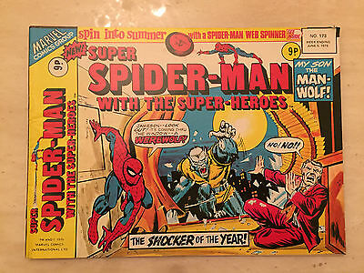 SUPER SPIDER-MAN with the SUPER-HEROES - No 173 - 5th June 1976