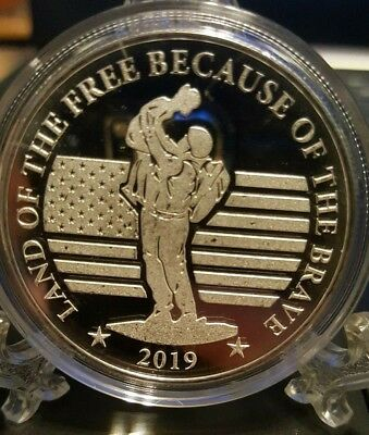 National Rifle Association 2019 Silver Veteran Round .999 Pure Silver 1 Troy Oz.